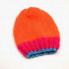 Hat Orange/Pink Baby Alpaga