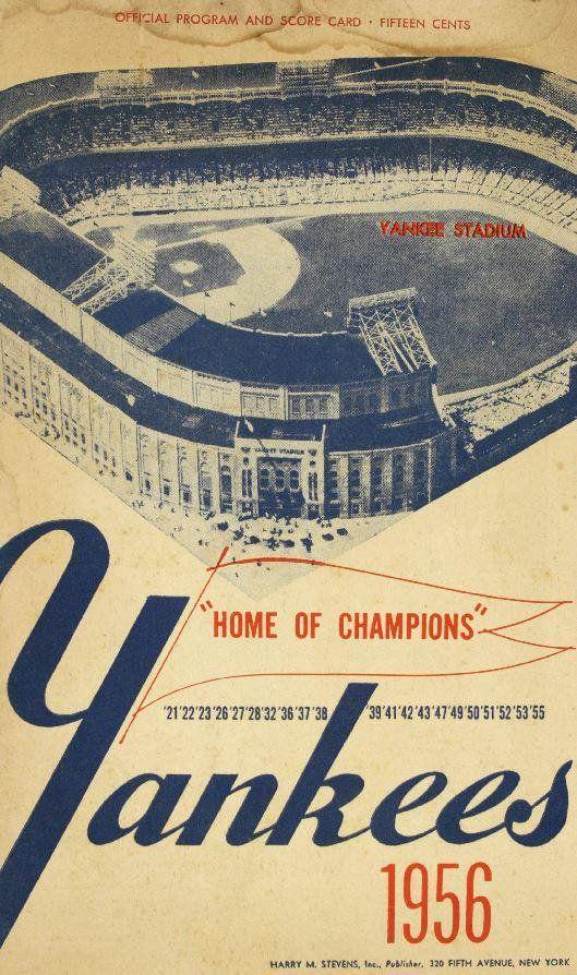 1956 NEW YORK YANKEES - Vintage Baseball Poster   Pinterest ...