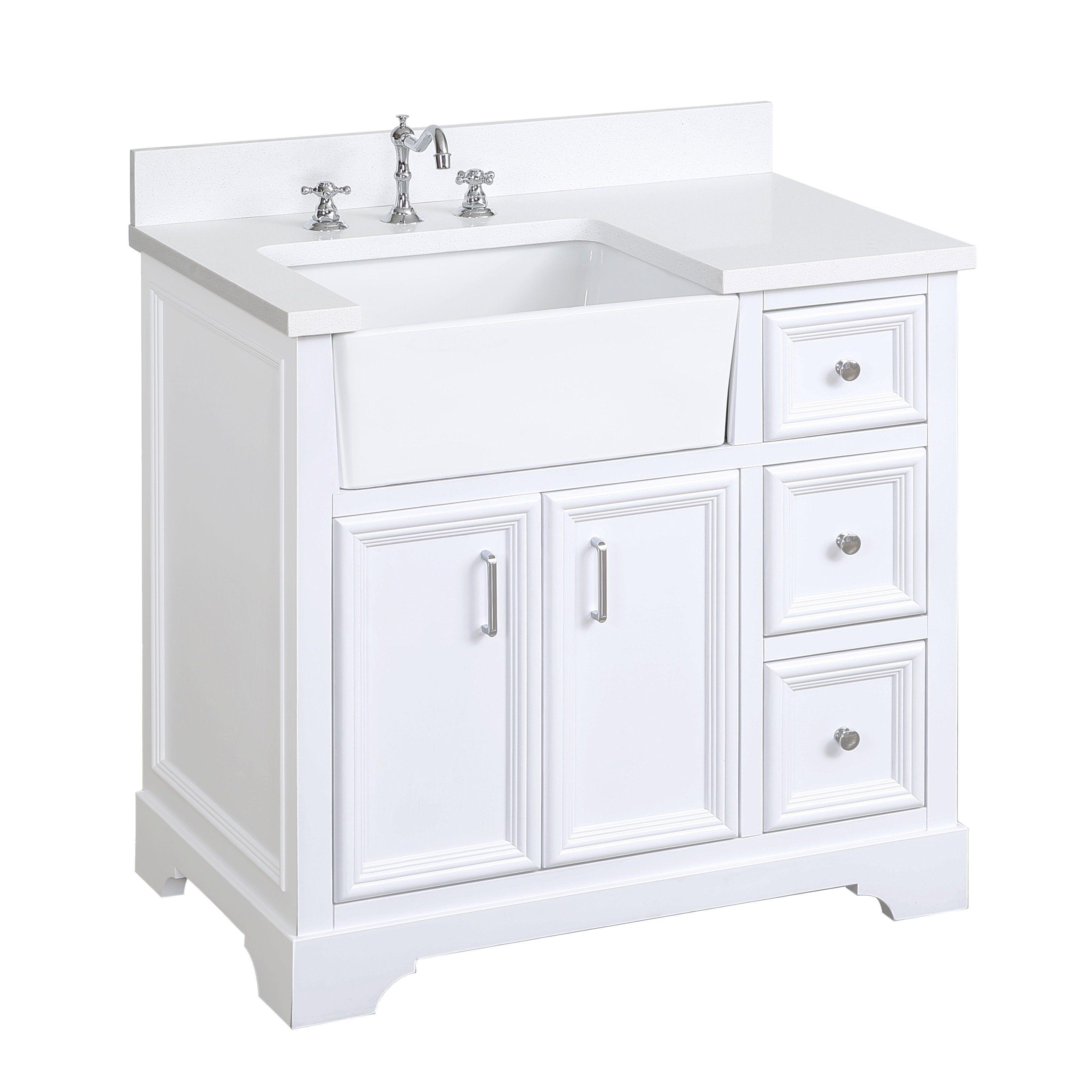 Zelda 36 Inch Farmhouse Vanity With Quartz Top Single Bathroom Vanity Farmhouse Vanity Vanity [ 3296 x 3296 Pixel ]