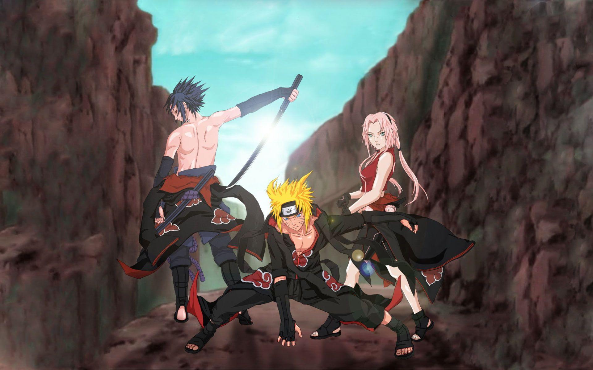 Naruto Sasuke Sakura Akatsuki Naruto Sakura And Sasuke