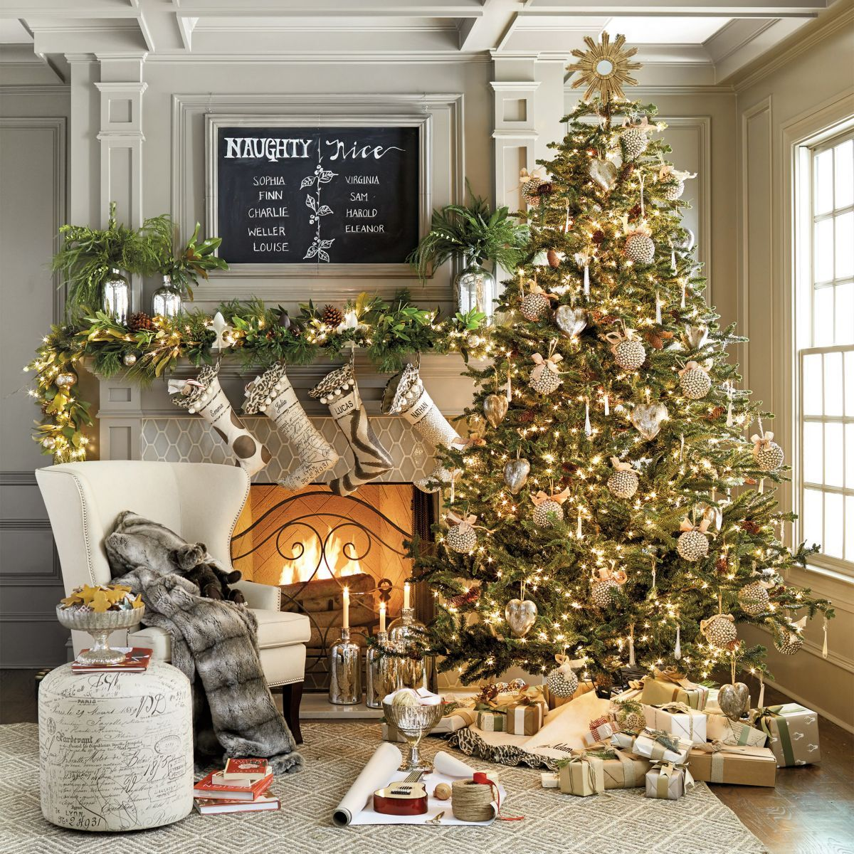 love this christmas scene! ballard designs is a favorite for me
