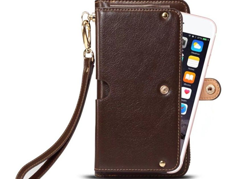 d63d8b84f5dd Cheap Price Full Grain Leather Universal Mltifunction Leather Wallet Pouch  Phone Bag For iphone XS Max