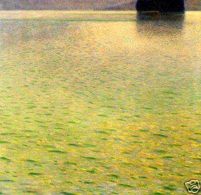 Gustav Klimt  Island on the Attersee