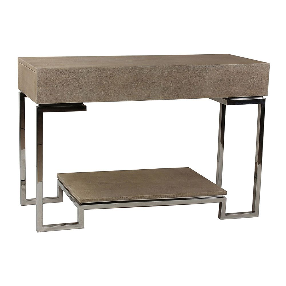 sarreid shagreen console table sa29373