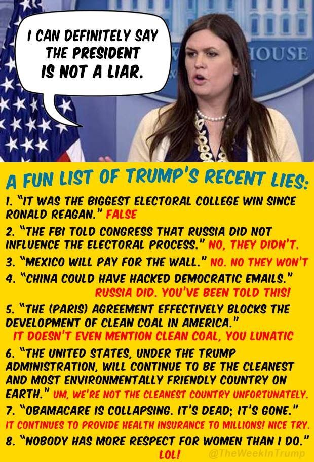"This Republican twunt is also an accomplished liar...a prerequisite for a job in the pussygrabber ""administration"""