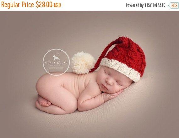 newborn Santa hatbaby santa hat newborn by Jensknottydesigns