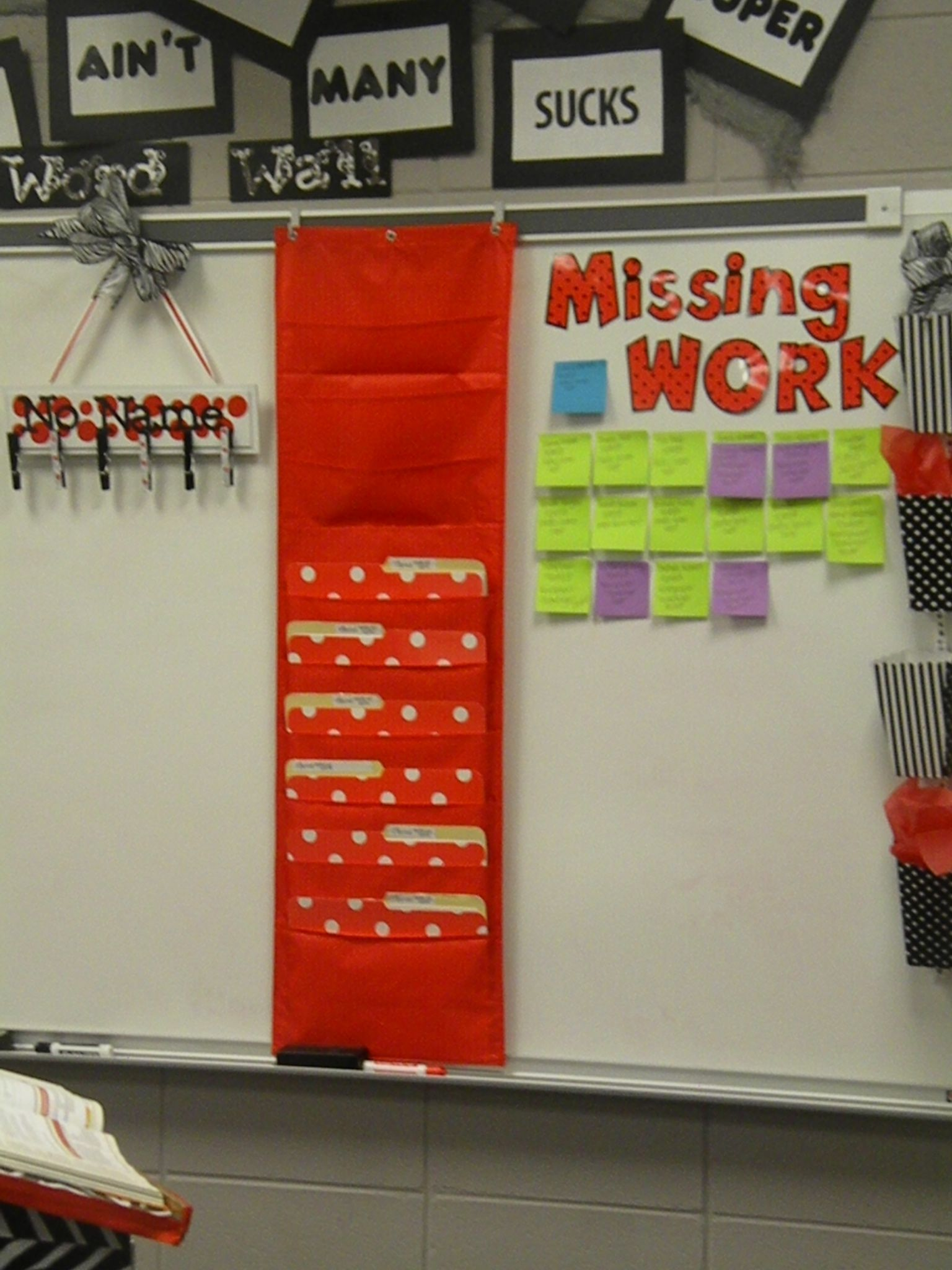 I Have Now Added A File Organizer Beside My Missing Work Board To Keep Copies Of Worksheets And