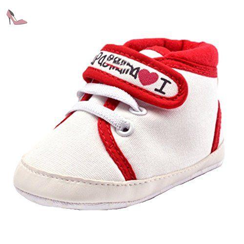30d1a30d085d7 Ohmais Enfants Chaussure Bebe Garcon Fille Premier Pas Chaussure premier  pas bébé Sandale en tissu souple