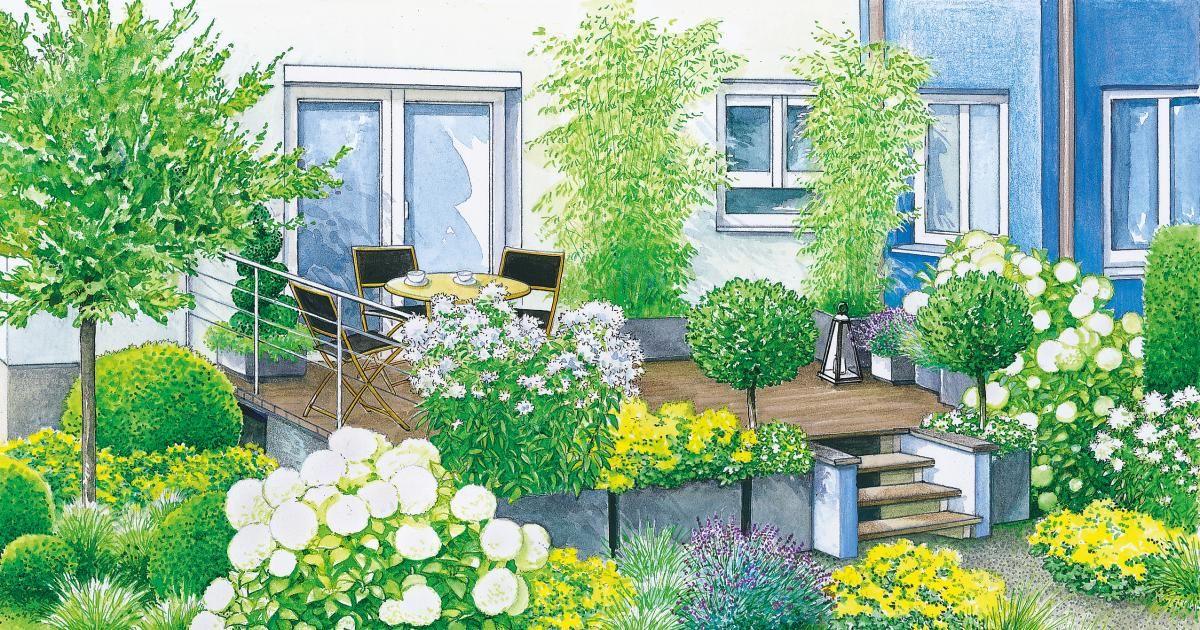 Harmonische Terrassen-Gestaltung Integriert, Terrasse und - garten gestalten vorher nachher