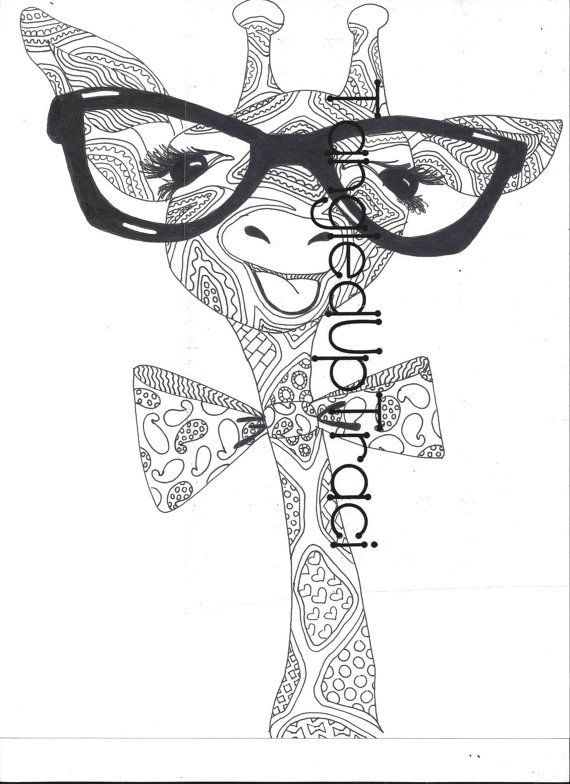 Detailed Giraffe Zentangle Coloring Page To Download And Color Animal Coloring Books Coloring Pages Giraffe Coloring Pages