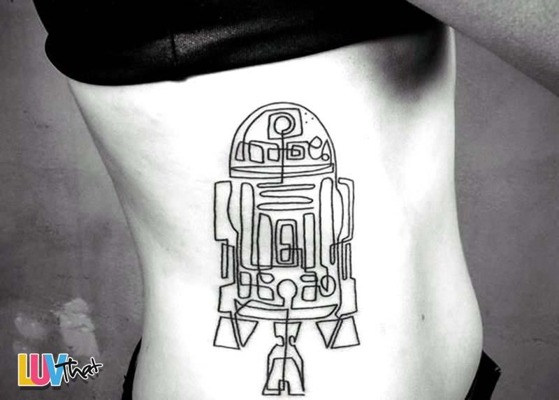 Simple Continuous Line Art : Line drawing r2d2 tattoo ink pinterest star wars