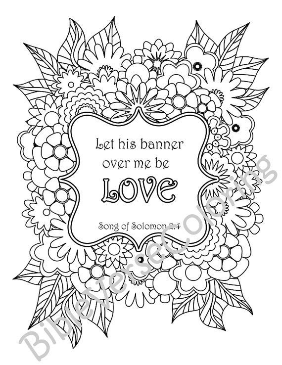 5 Bible Verse Coloring Pages Pack 12 Simple By