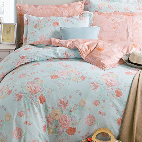 fadfay home vintage floral girls bedding setfresh spring rustic home choice duvet coverfancy flowers print bed coverfull size bedding