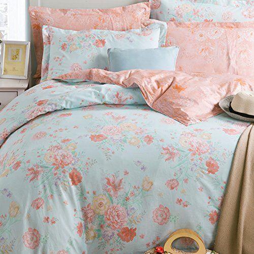 Fadfay Home Textile Romantic Vintage Floral Girls Bedding Set