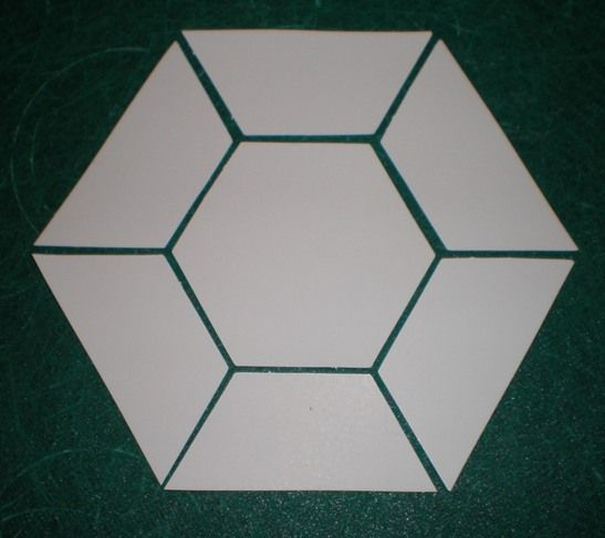 hexagon quilt template plastic - this goes with that tutorial week 1 patchwork