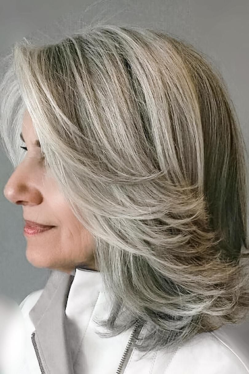 Amazing Gray Hairstyles We Love Hair Styles Blending Gray Hair Low Maintenance Hair