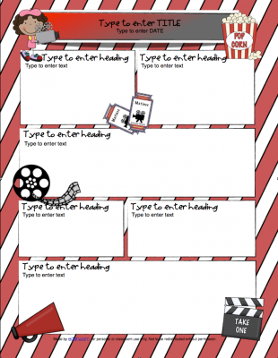 Hollywood/Movie Newsletter Template for Word from edlah ...