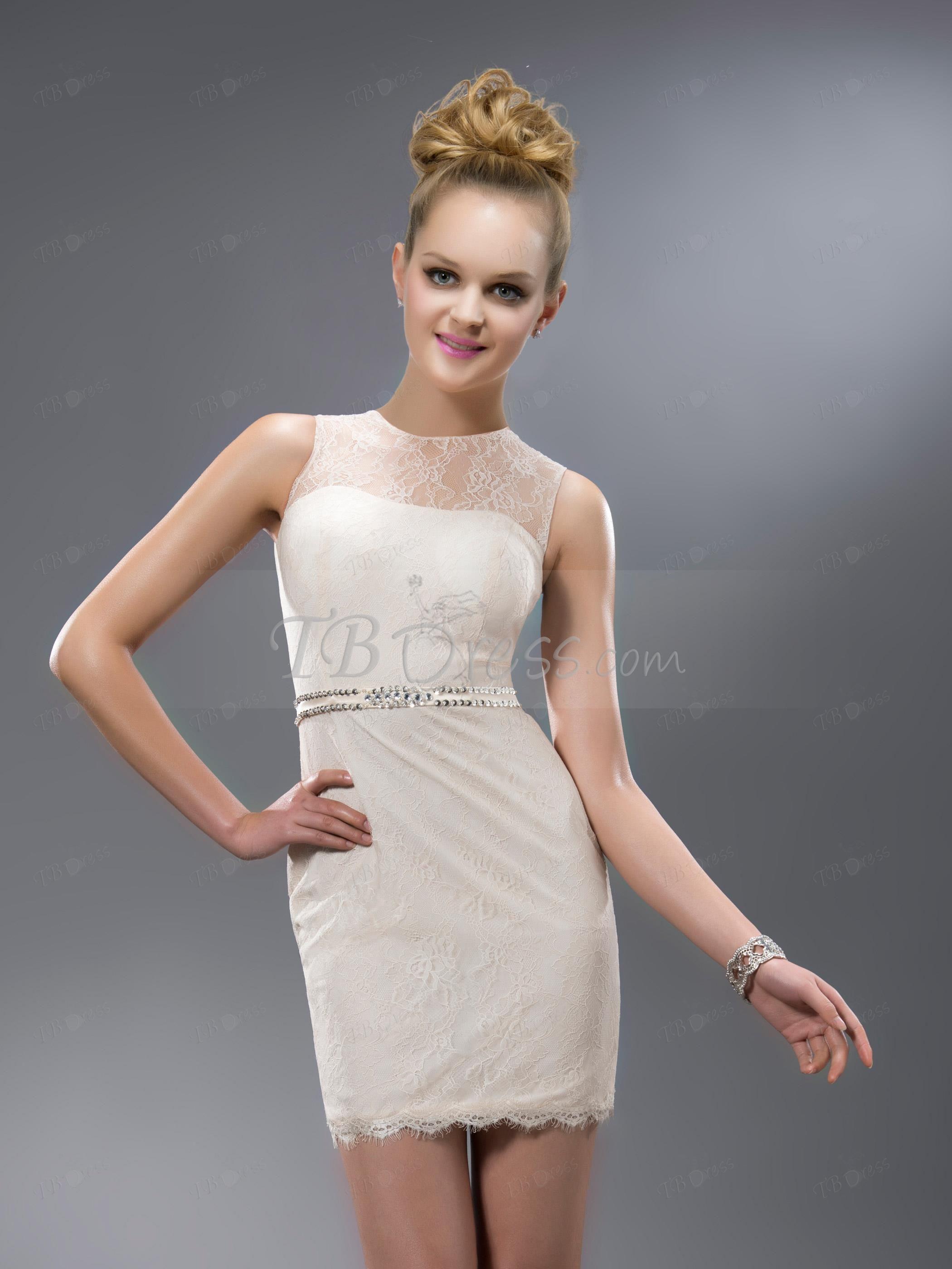 Vogue Superb Lace Jewel Beading/Sequins Short/Mini Cocktail Dress : Tbdress.com