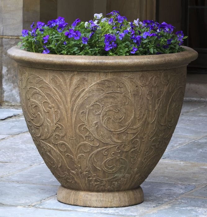 A Beautiful Arabesque Design Is Showcased On This Cast Stone Planter. Save  When You Order