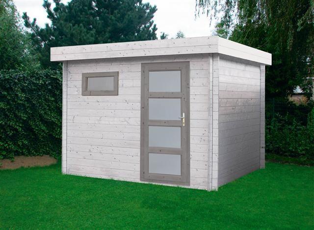 Abri de jardin en bois toit plat id e bac jardinage et for Cabanon en bois toit plat