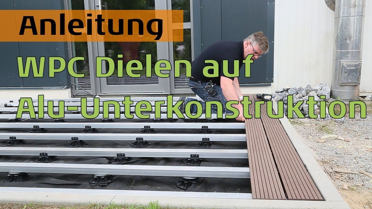 Wpc Dielen Auf Aluminium Unterkonstruktion Fur Hohe Beanspruchung
