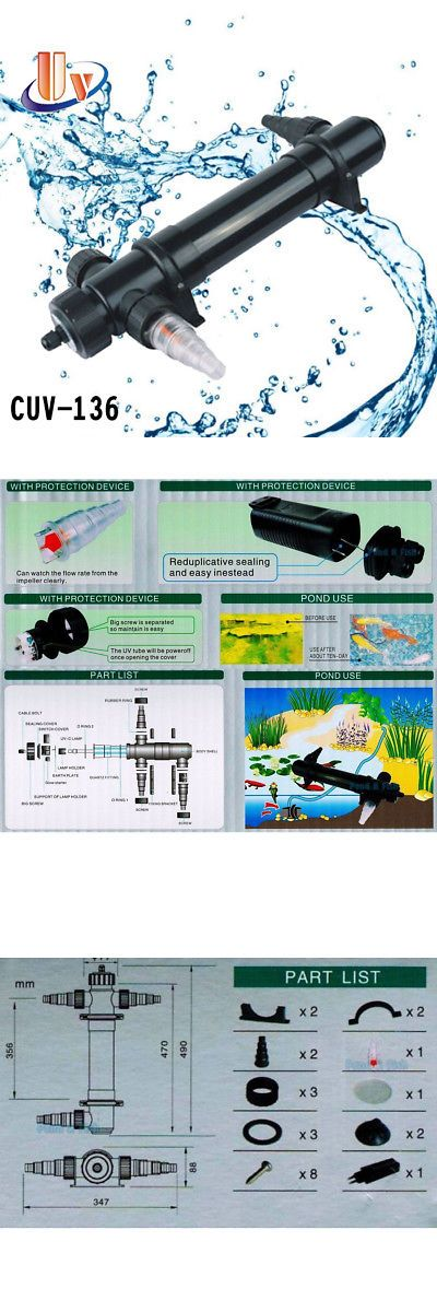 Uv Sterilizers 117434 Aquarium Uv Sterilizer 36w Light Fish Tank Clarifier Pond Koi Reef Pump Filter Buy It Now Fish Tank Aquarium Fish Tank Aquarium Fish