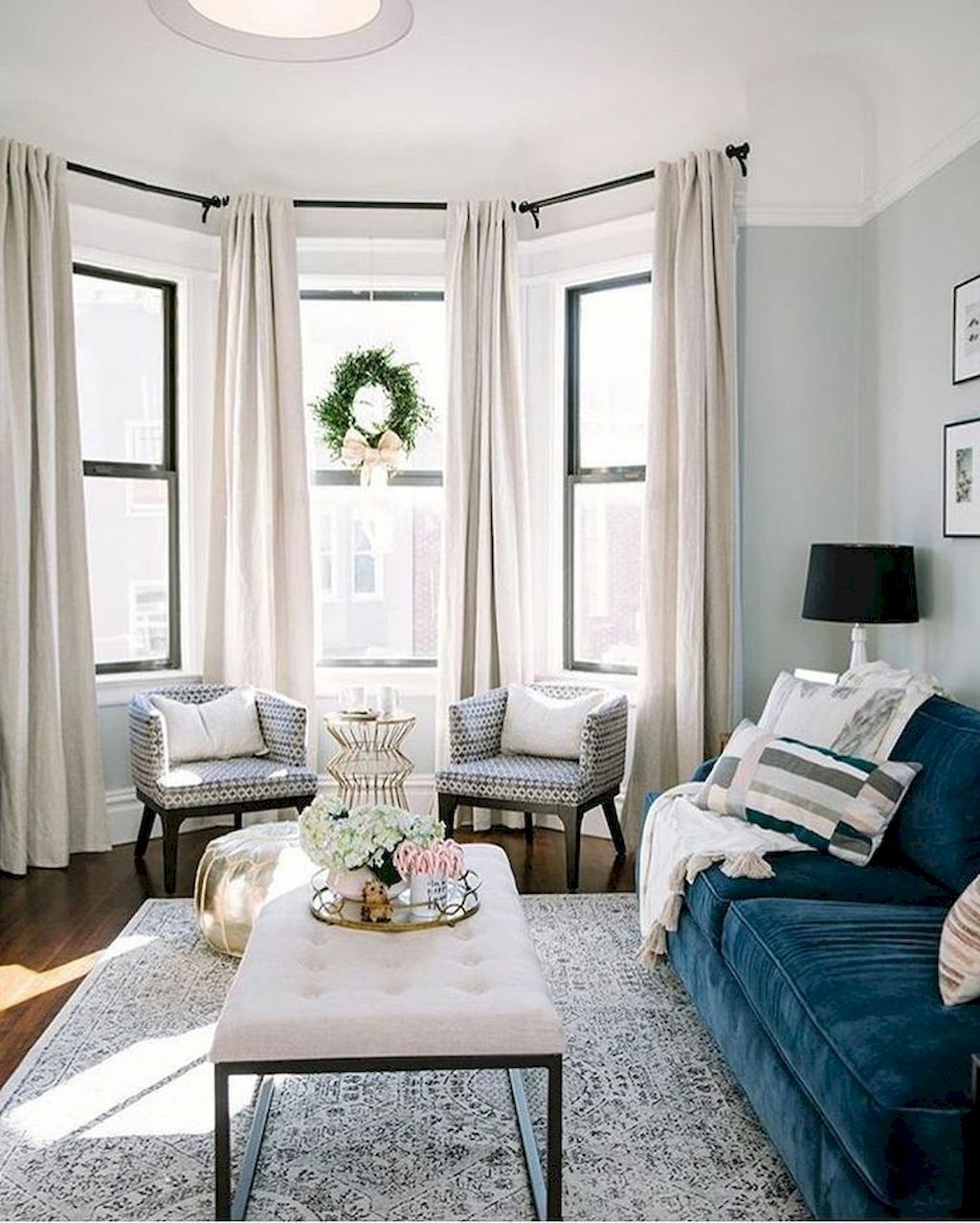 11 Beautiful Rug for Farmhouse Living Room Decorating ... on Farmhouse Living Room Curtain Ideas  id=46805