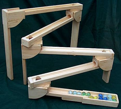 Wooden Marble Roller Subway Amish Made Roller Coaster