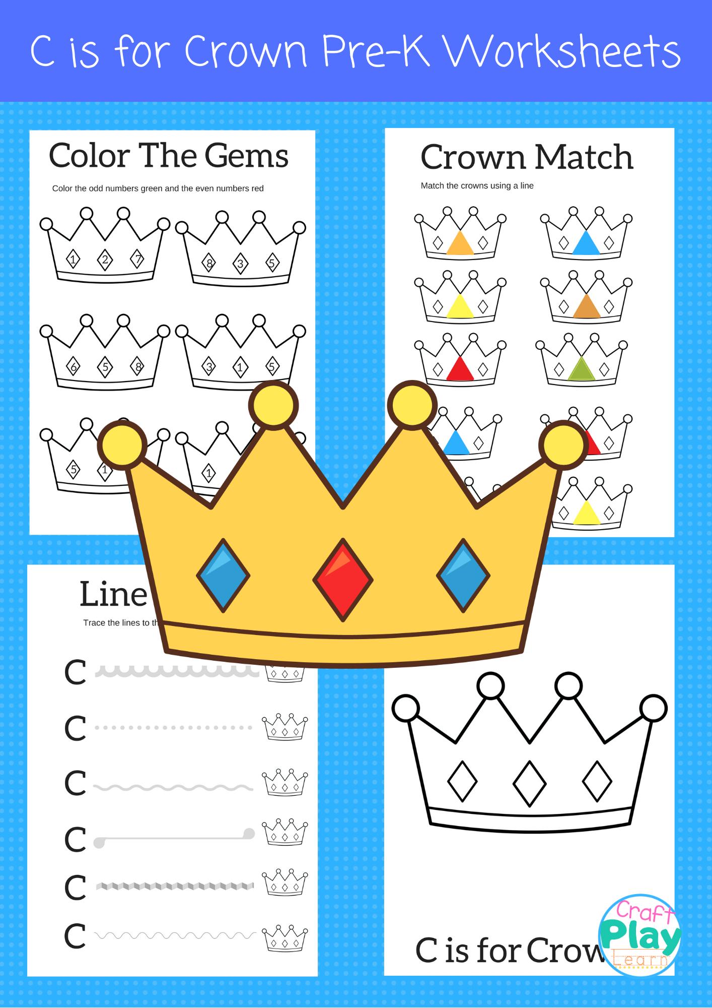 Letter C Worksheets For Kids In