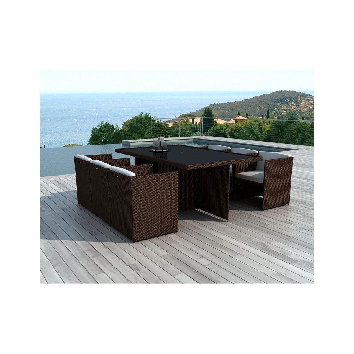 x6 Fauteuils + tables jardin DELORM CHOCO en 2019   Products ...