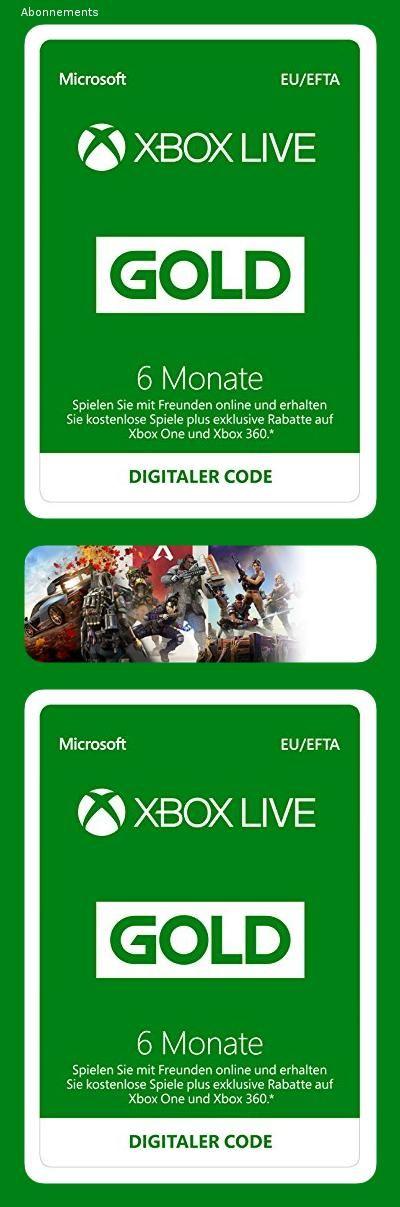 Xbox Live Gold Mitgliedschaft 6 Monate Xbox Live Download Code 147m In 2020 6 Monate Spiele Umsonst Microsoft Windows 10