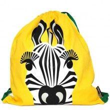 Deze milieuvriendelijke kinder zwem- gymtas is van het Franse merk Coq en Pâte, met een mooie zeefdruk van een zebra