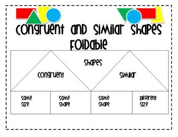 Similar and Congruent Figures Foldable | Math and Students