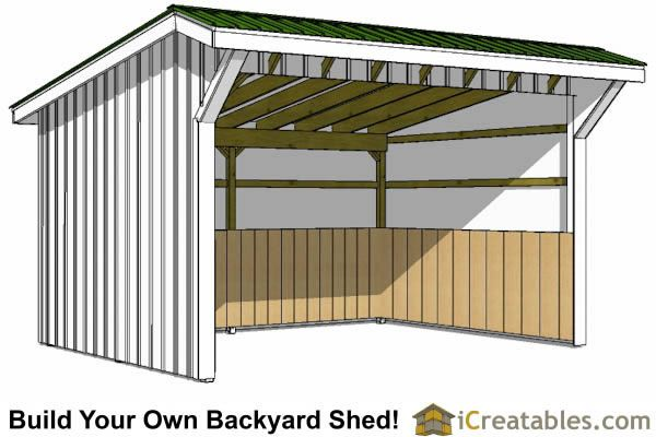 12x16 Run In Shed Plans Loafing Shed Run In Shed Shed Plans