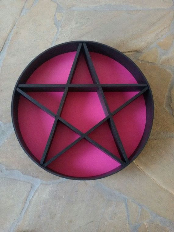 SUMMERY SALE Pentacle shelf Gothic room, Ral colours
