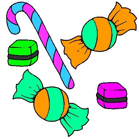 Coloriage Gateau Bonbon.Coloriage Bonbon A Imprimer Dessin Colorier Et Dessin Non Colorier
