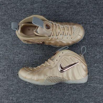 e9d4da834ace9 Newest Nike Air Foamposites Gold Cream Sneaker