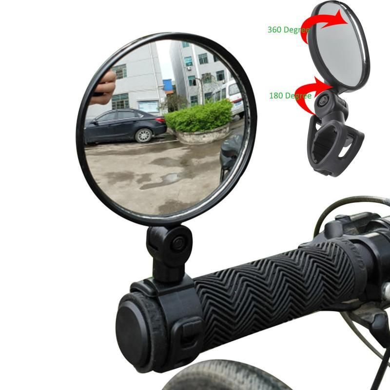 2Pcs Universal Handlebar HD Glass Safe Bicycle Rear View Mirror F Road Bikes USA
