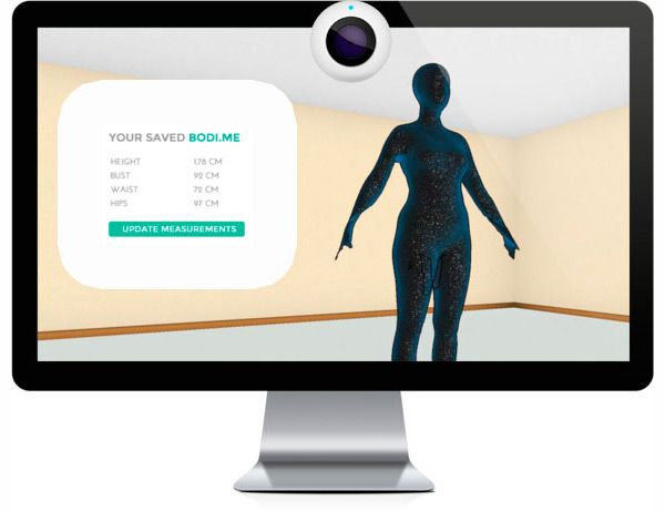 You Can Save Your Measurements On A Programme Or Stores Website Online Shopping Clothes Body Scanning Fitness Technology