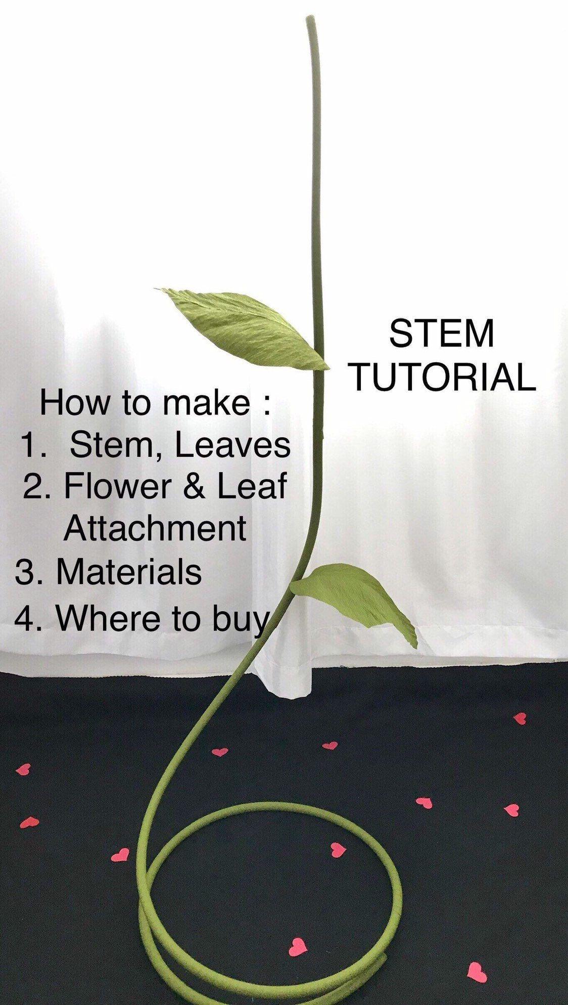 Giant Flower Stem Tutorial, DIY Large Flower Stem, Giant Paper Flower Stand, Stem for Giant Paper Flower, Free Standing Paper Flowers Stem #giantpaperflowers