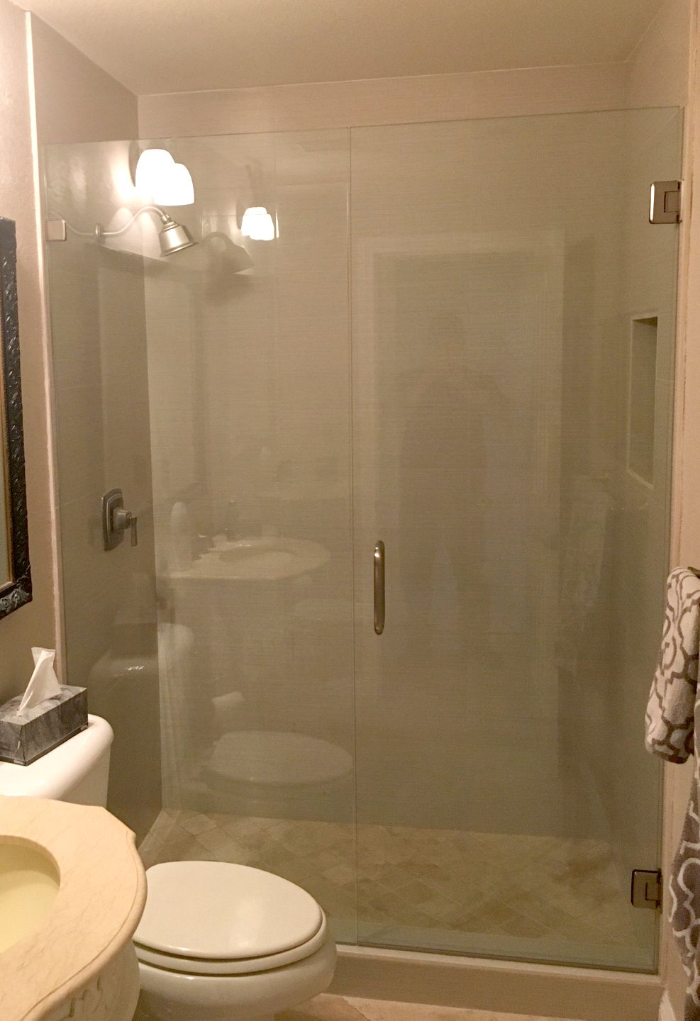 Glass Shower Enclosure And Protective Treatment With Hydroshield