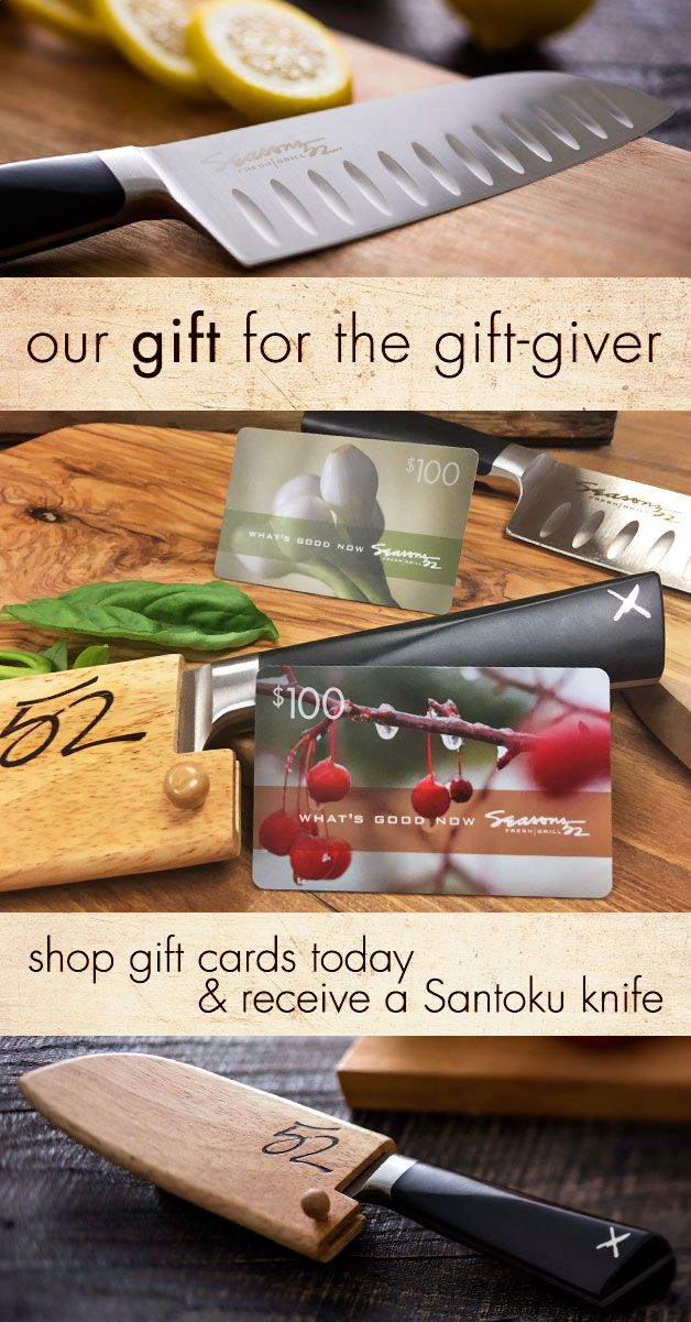 7d347471fa3 Gift Cards are the perfect stocking stuffer. Receive our precision forged  Japanese Santoku knife when you purchase  300 or more in gift cards.