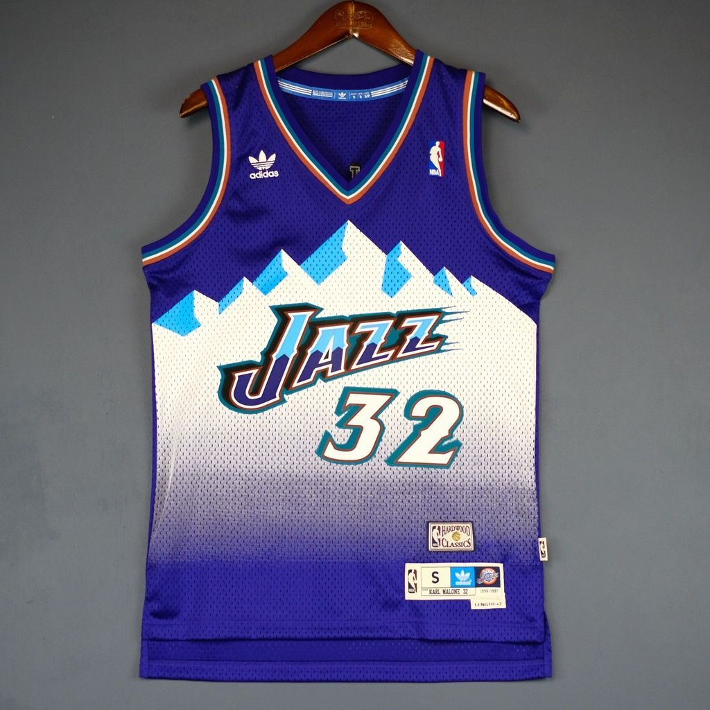 huge discount 04c76 fd48c Men 32 Karl Malone Jersey Purple Utah Jazz Jersey Throwback ...