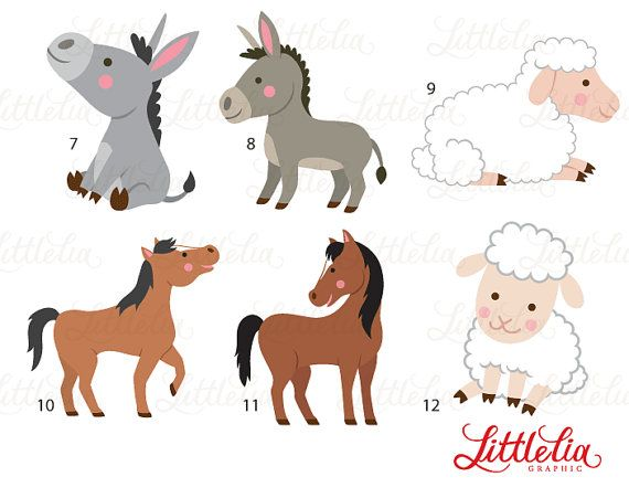 Farm Mom And Baby Clipart Family Clipart By Littleliagraphic Clip Art Family Clipart Mom And Baby