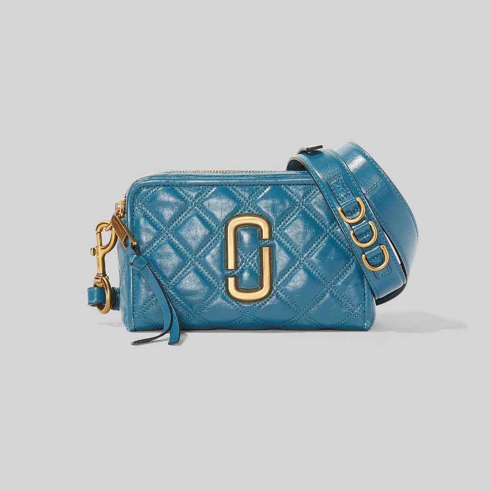 The Quilted Softshot 21 Marc Jacobs In Mystic Blue Marc Jacobs