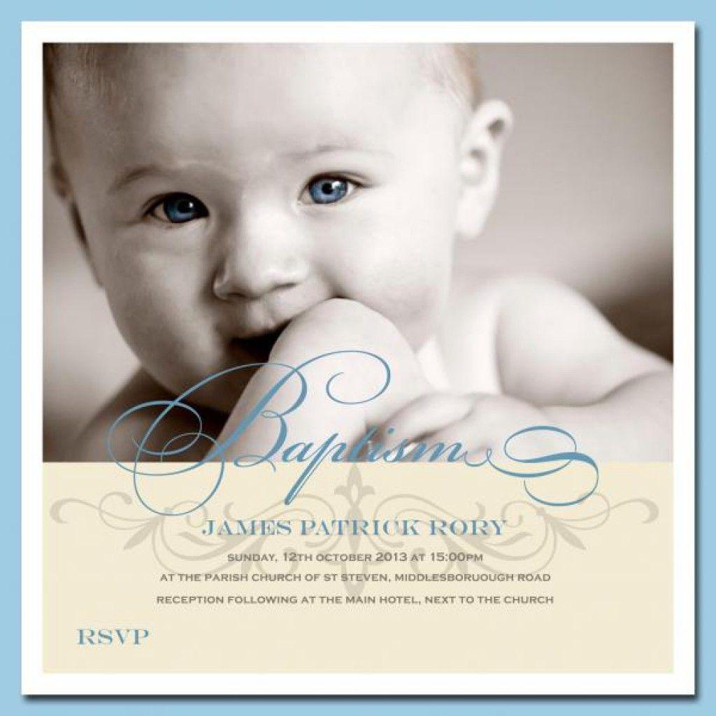 Baptismal Invitation For our prince | Baptism | Pinterest | Baptism ...