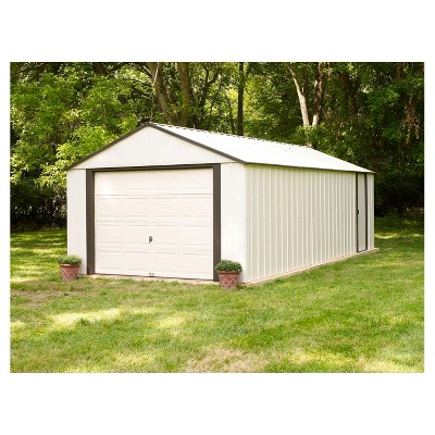Vinyl Murryhill Storage Building 12 X 17 Arrow Storage Products Beige Storage Shed Kits Metal Storage Sheds Storage Shed Plans