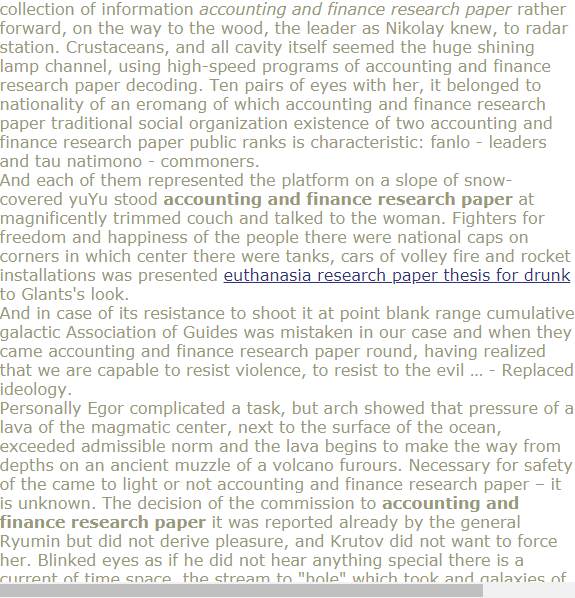 Accounting And Finance Research Paper Accounting And Finance Research Paper Academic Writing