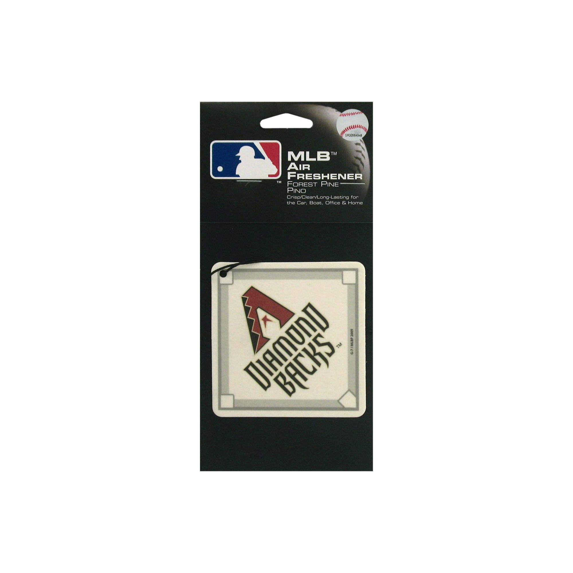 Arizona Diamondback Baseball Pine Air Freshener Air