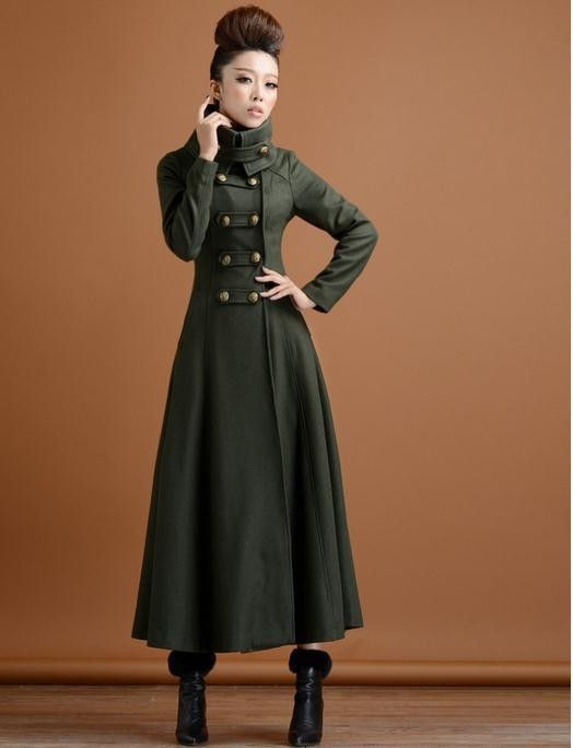2015 winter women double breasted woolen overcoat ultra long coat paragraph outerwear slim elegant military wind-in Wool & Blends from Women's Clothing & Accessories on Aliexpress.com | Alibaba Group